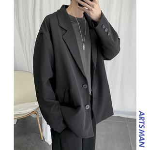 @港仔文艺男 2020新款休闲西服宽松韩版外套春季潮流西装上衣帅气