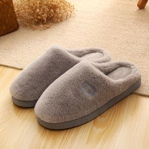 .男鞋子室内冬季睡家用情侣底棉鞋鞋冬天女厚土拖鞋加厚居扦脱托