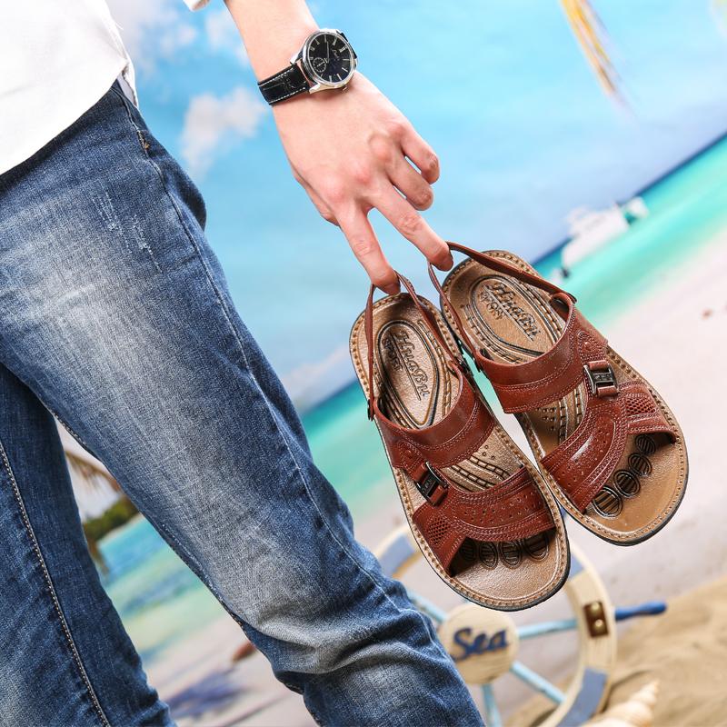 夏季防水防滑凉鞋男士软底耐磨凉拖