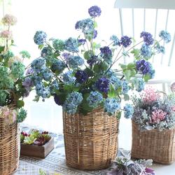 西西里新品 高档仿真花米兰小雪球绣球花 家居客厅假花装饰花插花