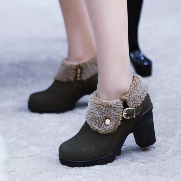 2013韩版女靴_韩版高跟马丁靴——【购推荐网】