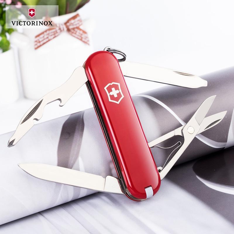 维氏瑞士军刀 瑞士军士刀 58mm军刀正品逍遥派0.6363多功能小刀