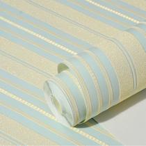 蓝色竖条纹无纺布墙纸卧室现代简约高档时尚家用客厅全屋餐厅壁纸