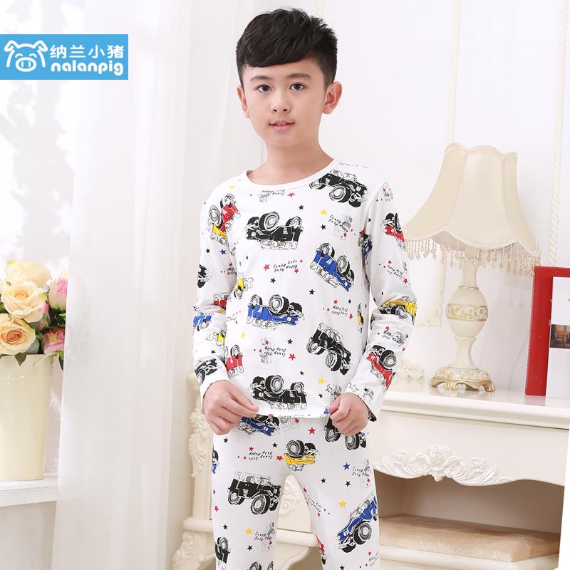 納蘭小豬男童薄款兒童睡衣