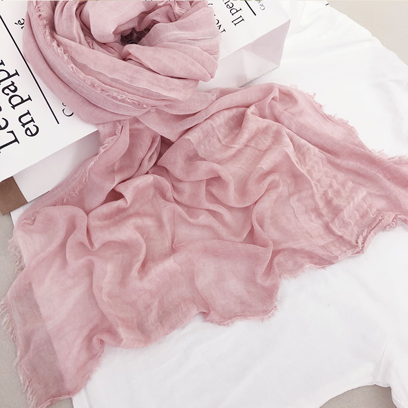 Modal cotton silk scarf in spring and autumn and summer