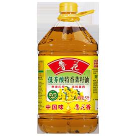 【鲁花直销】 鲁花 低芥酸特香菜籽油5L 非转基因 物理压榨图片