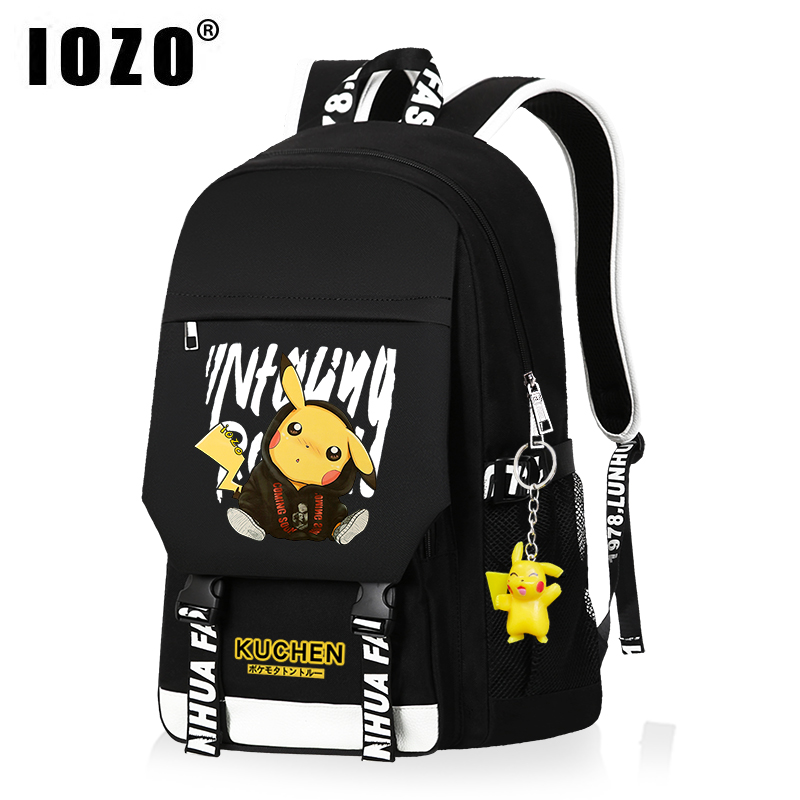 Cartoon picachu schoolbag, backpack for boys and girls, fashion trend for children, backpack for primary school students, high capacity for junior high school students