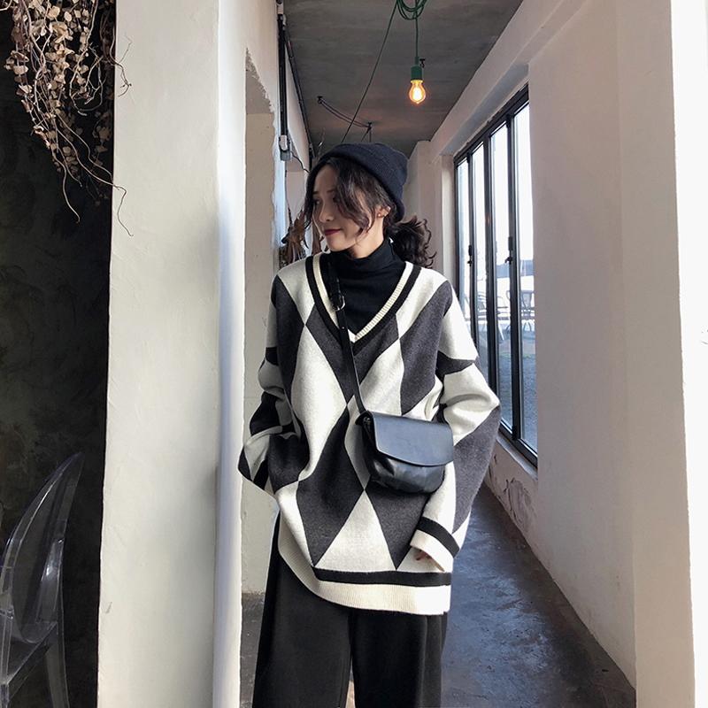 大码女装套装2018秋冬装新款洋气显瘦网红微胖妹妹两件套毛衣减龄