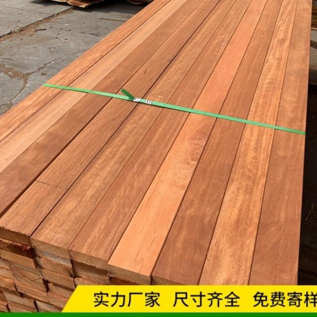 防腐木地板 戶外菠蘿格板材實木立柱圓柱木方園林棧道長廊木龍骨
