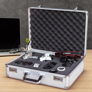 单反相机防潮箱摄影器材箱镜头收纳箱防震相机海绵密码干燥防潮盒