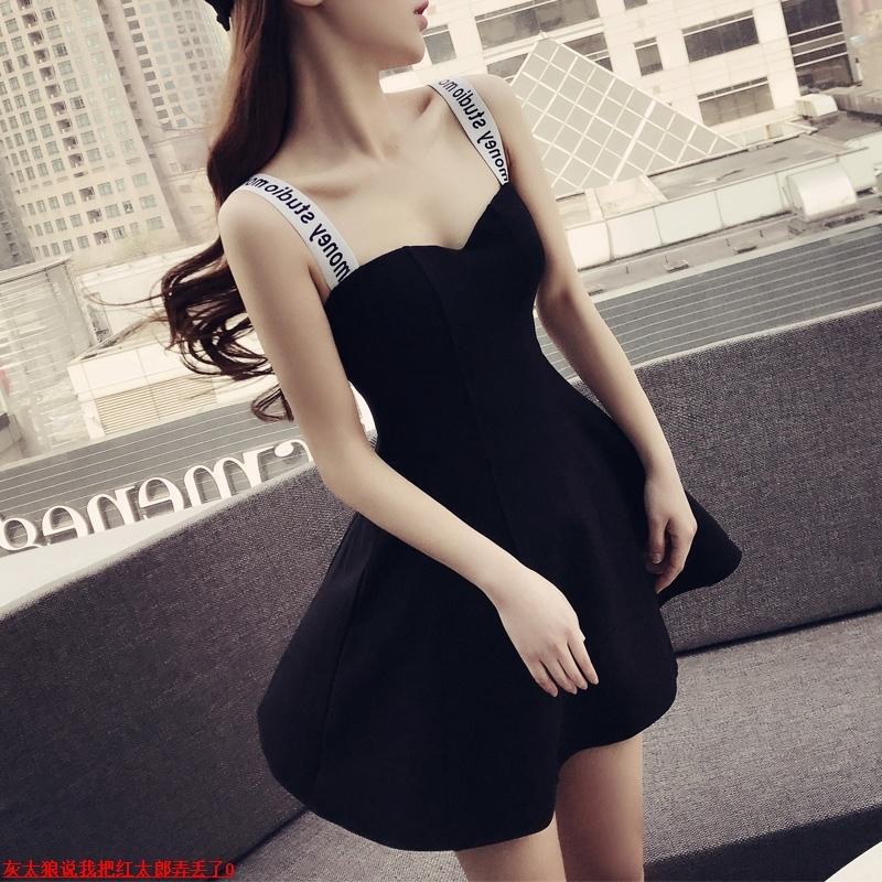 香港女装miu缪家夏季新款性感吊带抹连衣裙修身显瘦露背连衣裙