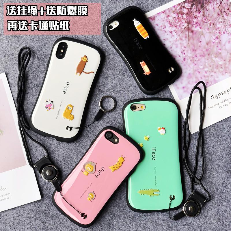 iface苹果Xs/7/8手机壳iphone7plus抗震防摔iX小蛮腰se手机套5s潮