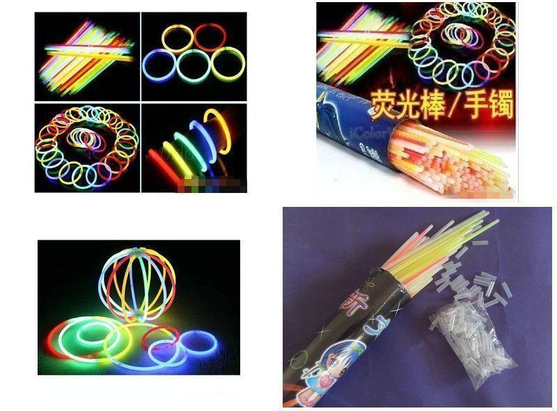 Играть петь может флуоресцентный стержень танец может бар серебристые палка свет вспышка игрушка флуоресценция браслет