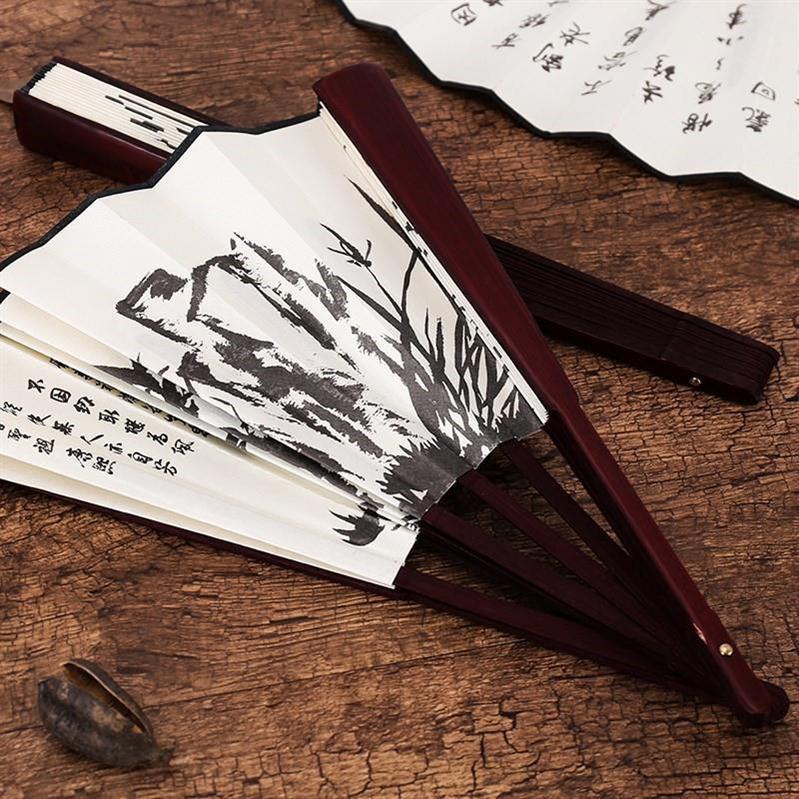 纸扇子折扇中国风复古随身便携手摇夏季家用男学生手绘制作书法。限时抢购