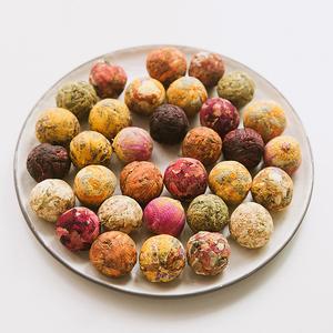 云南普洱手工龙珠花茶工艺花球玫瑰茉莉洛神百合杜丹10种口味混装