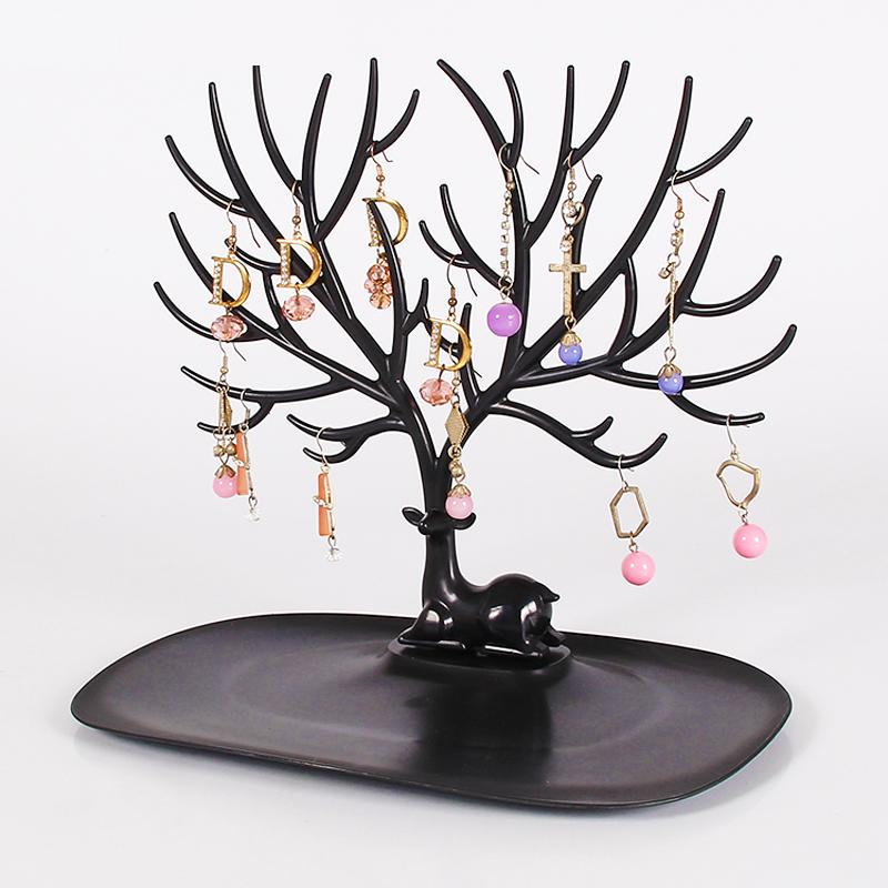Аксессуары творческий олененок угол дерево форма ювелирные изделия хранение полка серьги серьги браслет ожерелье браслет реквизит дисплей