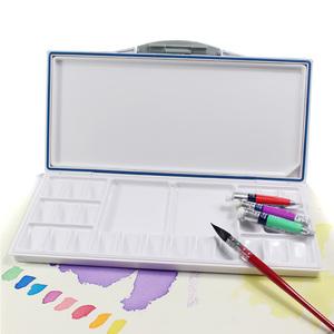 水彩调色盒/密封保湿水彩颜料调色盘18格24色33格便携翻盖颜料盒
