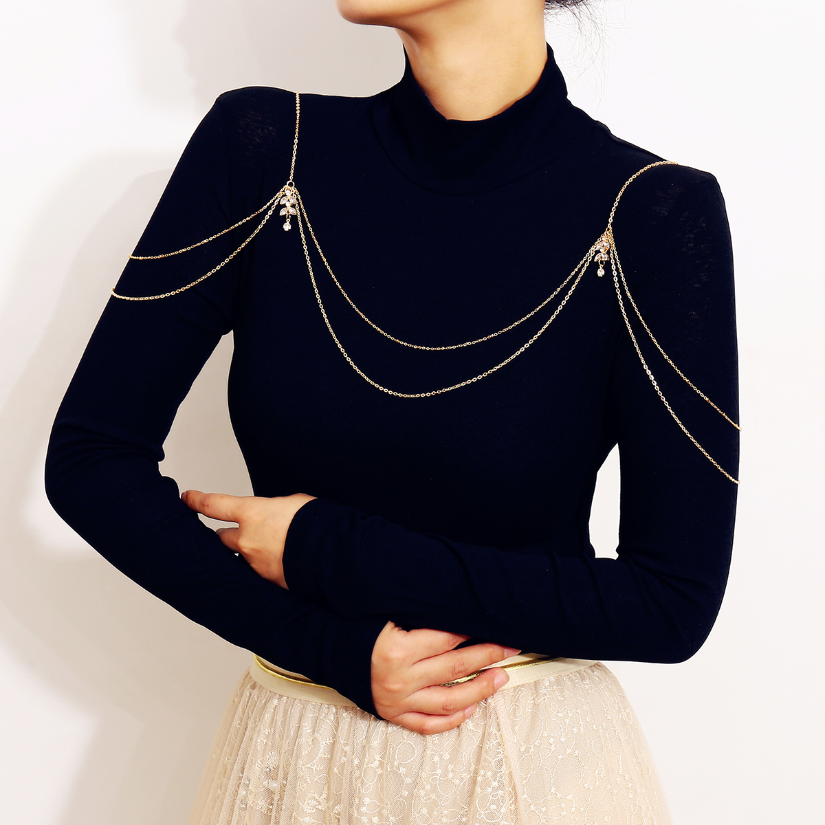 2021 new shoulder chain shoulder accessories for women in Europe and America