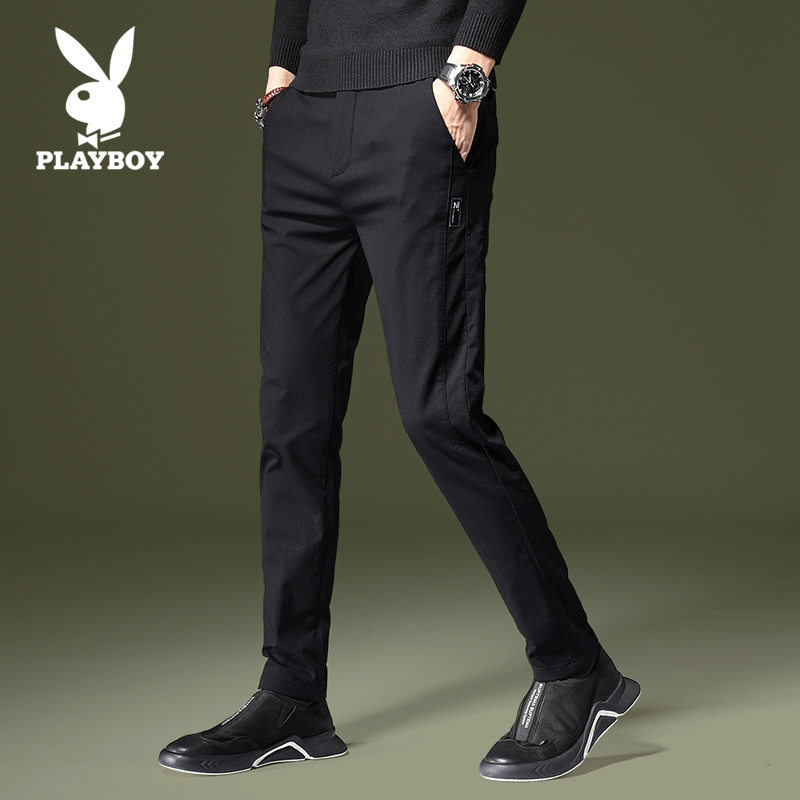Playboy casual pants for men, slim fit, spring 2020, Korean trend, all kinds of handsome straight tube long pants for men