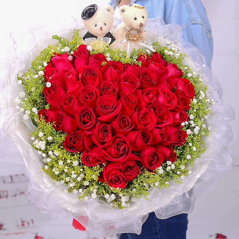 玫瑰花束生日鲜花速递西宁北京上海南京订花同城配送花店送花上门