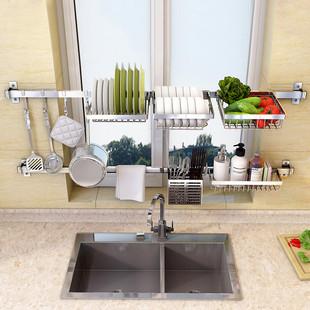 免打孔304不锈钢厨房水槽壁挂挂架