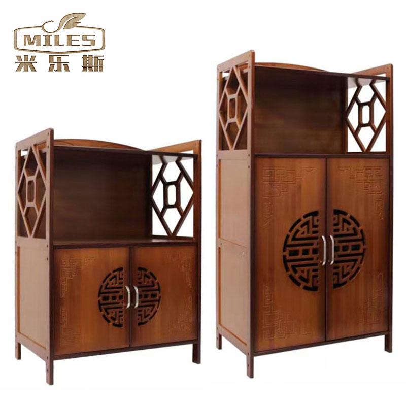 Античный бамбук микроволновой печи чай кабинет чайный сервиз полка орех с дверями жаркое коробка полка кухня положить хранение полка хранение полка