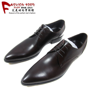 2015 new breathable men s business dress shoes pointed Korean version of the trend of British men shoes genuine leather