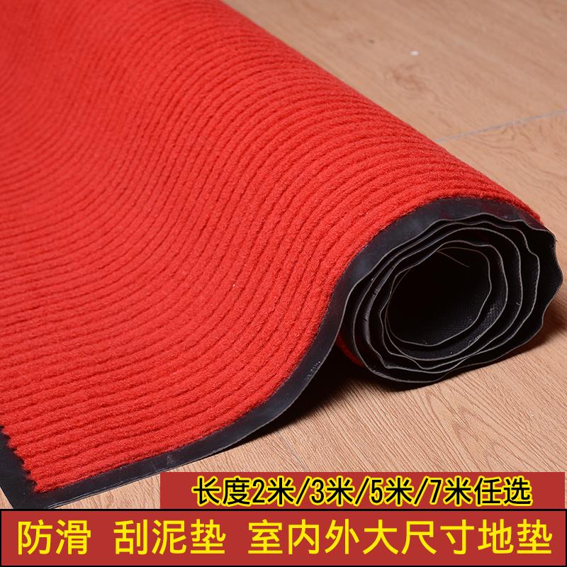 玄関の入り口の店の入り口のマットは客を迎えて赤いじゅうたんを敷いて滑り止めの吸水地にマットを敷いてホテルを注文して掃除します。