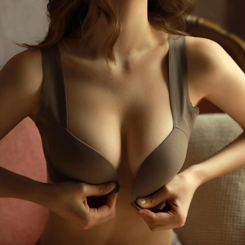 上薄下厚小胸无钢圈女光面遮文胸