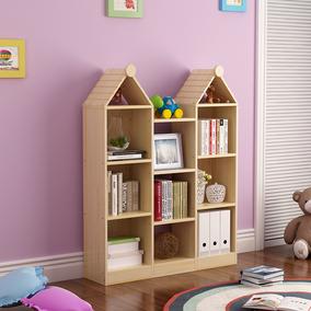 自由组合实木书柜松木儿童展示柜