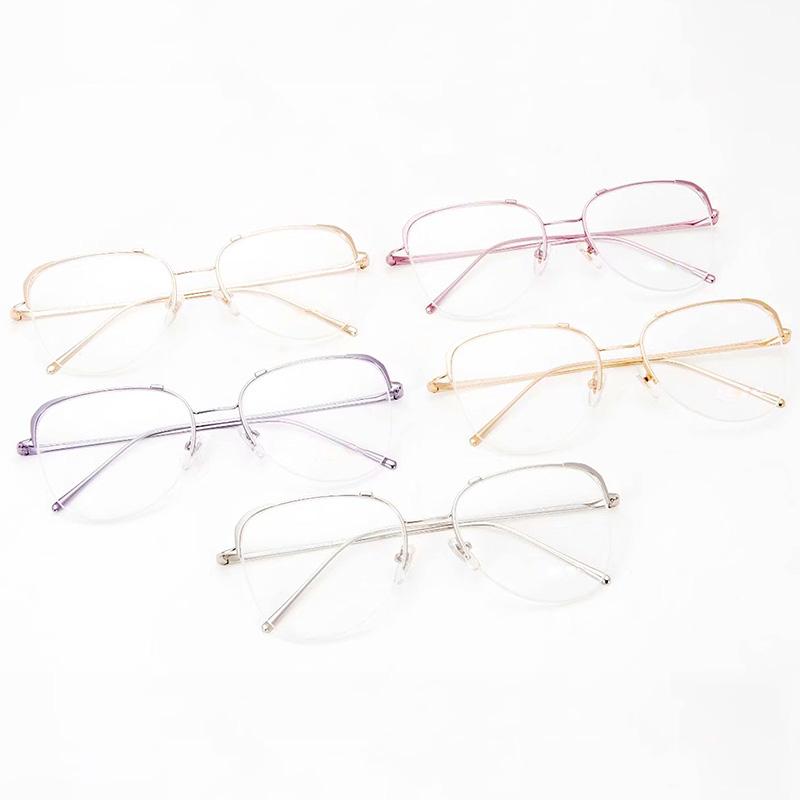 ファッション的な女性のトレンドメガネフレームは、近視メガネと合わせて、ブルーレイフレームのフラットライトコンピュータの保護OPC 60 UVを防ぐことができます。