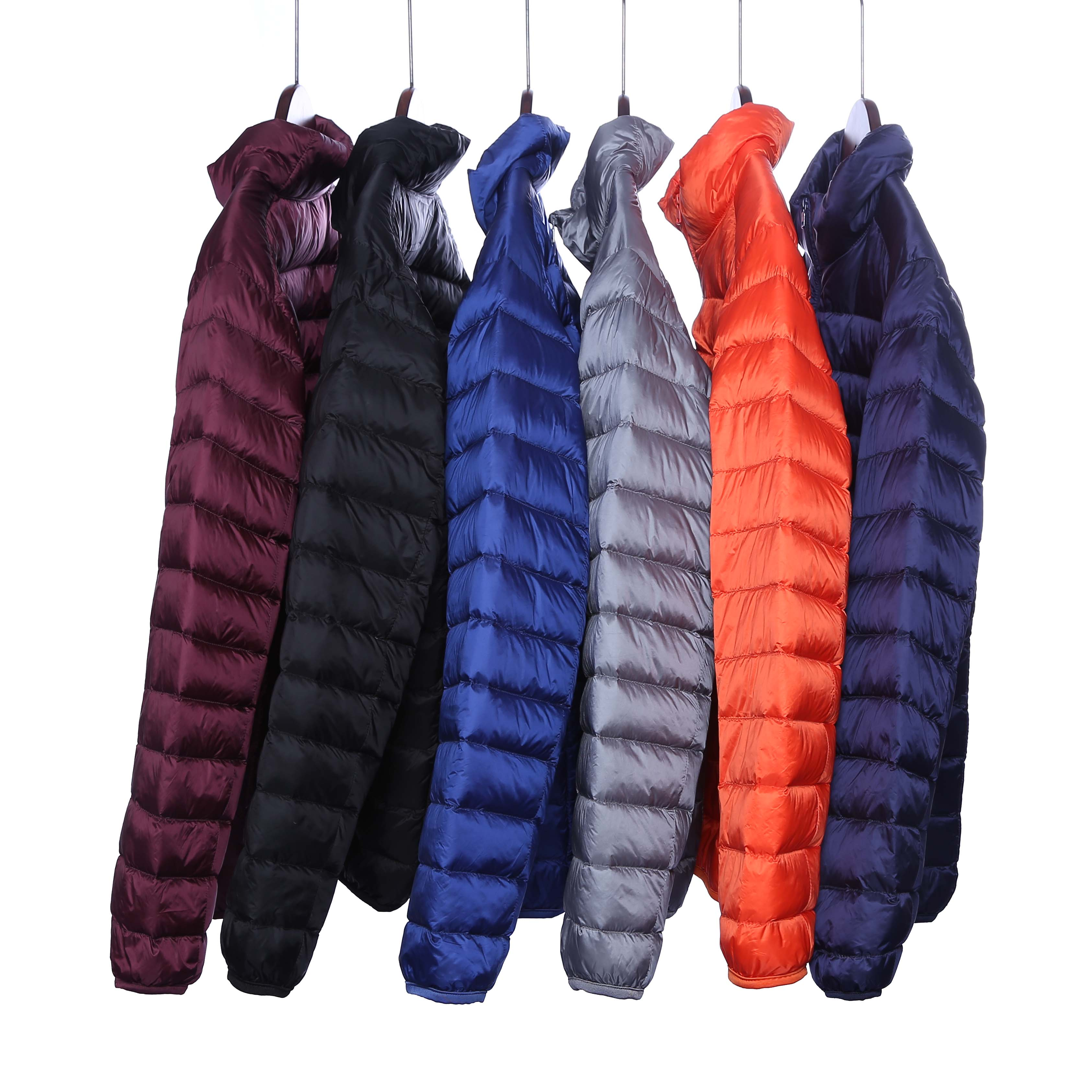 Winter factory clearance broken size lightweight portable down jacket mens stand collar hooded short warm leisure outdoor sports