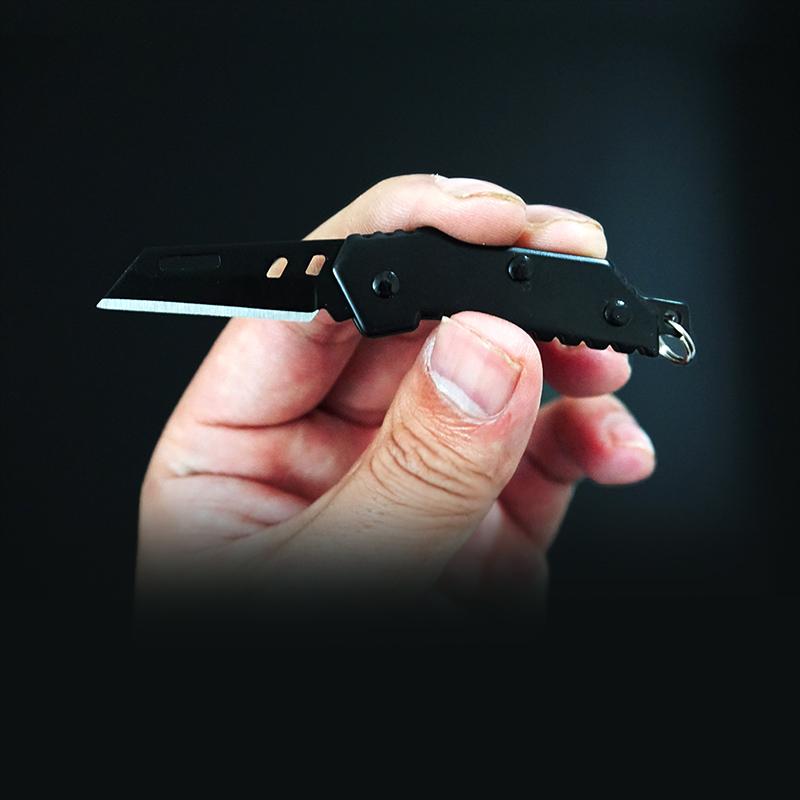 随身迷你小刀折叠刀锋利可挂钥匙扣小刀袖珍小刀户外便携防身刀具
