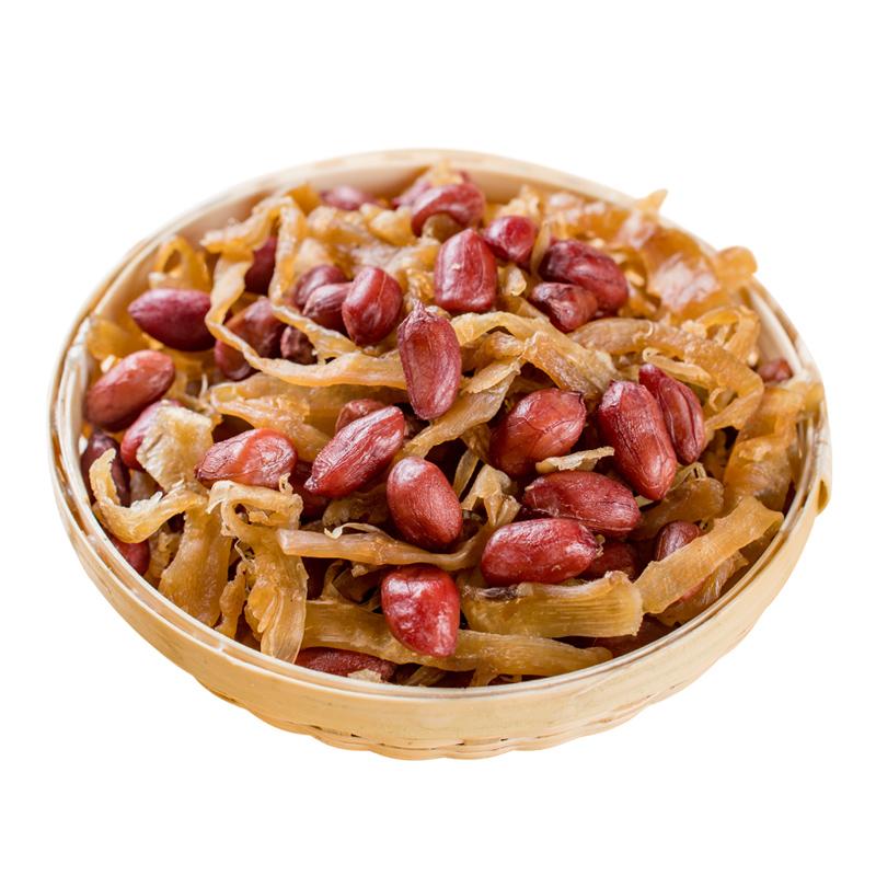 新品临安新货笋丝青豆250g连罐装 多味笋干花生即食休闲 零食特产