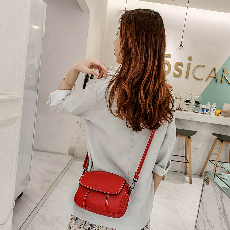 Mini Bag 2020 new fashion retro simple versatile small round bag Single Shoulder Messenger soft leather bag