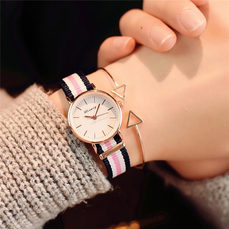 Korean quartz watch waterproof couple canvas bag Watch