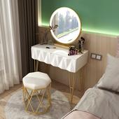 网红北欧轻奢梳妆台卧室ins化妆桌现代简约小户经济型化妆台带灯