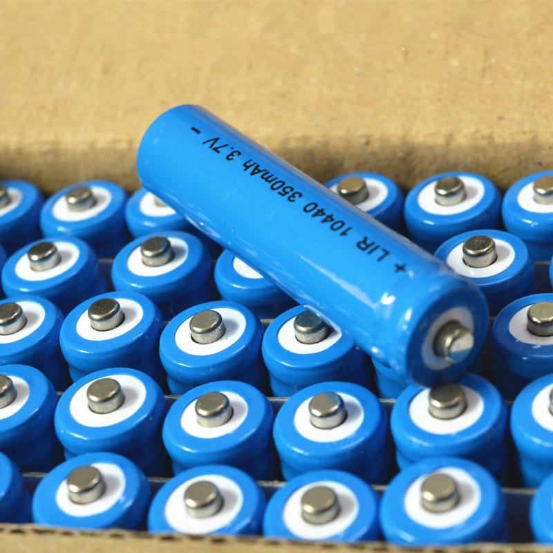 正品10440锂电池 350mah 7号5号充电锂电池 3.7V 强光AAA AA电池
