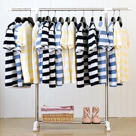 晾衣架落地单杆折叠室内伸缩简易晒衣架阳台凉衣架家用卧室挂衣架