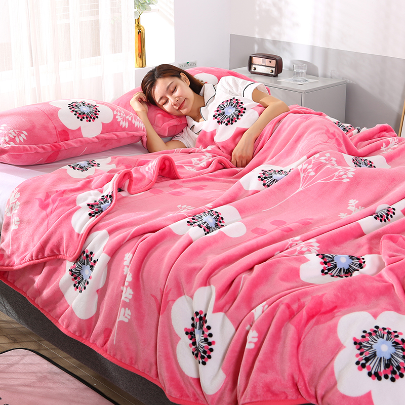Flannel blanket winter nap blanket thickened coral blanket childrens single double sheet quilt