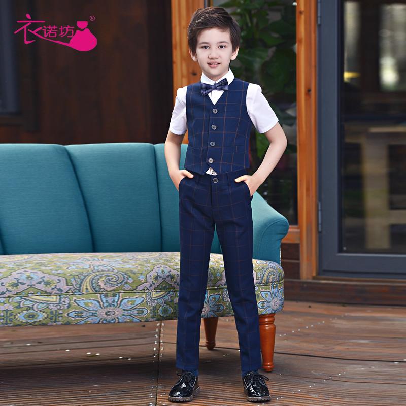 男童马甲礼服套装花童主持人儿童表演男孩西装钢琴演出服小西服夏