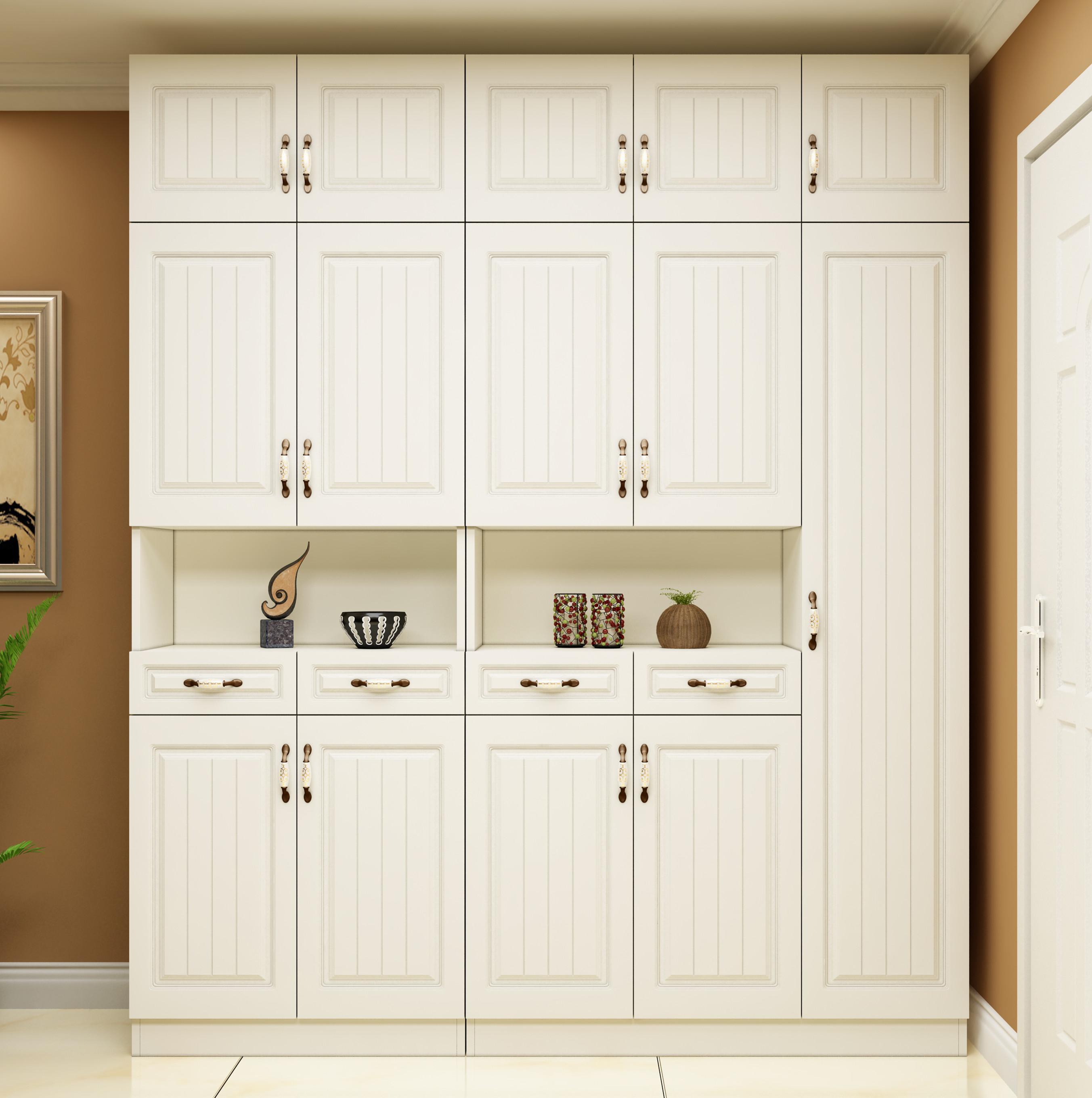 鞋柜家用门口大容量玄关柜一体满墙门厅柜进门入户靠墙阳台储物柜