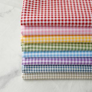 连衣裙衬衫 PopoHouse朝阳格子斜纹纯棉布料 服装 面料床单被套靠垫