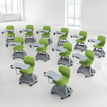 Meeting Room chair Folding training chair with large WordPad office chair staff Training Chair Plastic news conference Chair