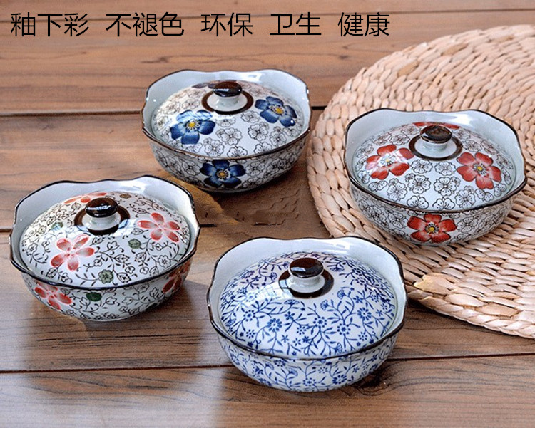 Japanese tableware, kimono bowl, pickle bowl, household single ceramic steamed egg, one person stew cup, special for microwave oven