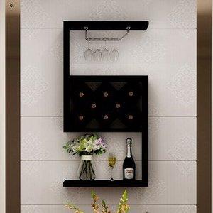 欧式小户型客厅酒架壁挂酒柜餐厅墙上创意悬挂式酒架置物架装饰架