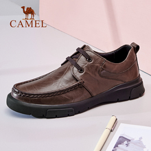 Camel men's shoes 2019 new winter business casual shoes men's Retro leather toe shoes men's soft sole shoes