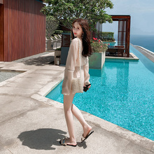Hot spring clothes holiday sexy bikini three piece swimsuit women's split swimsuit show thin swimsuit