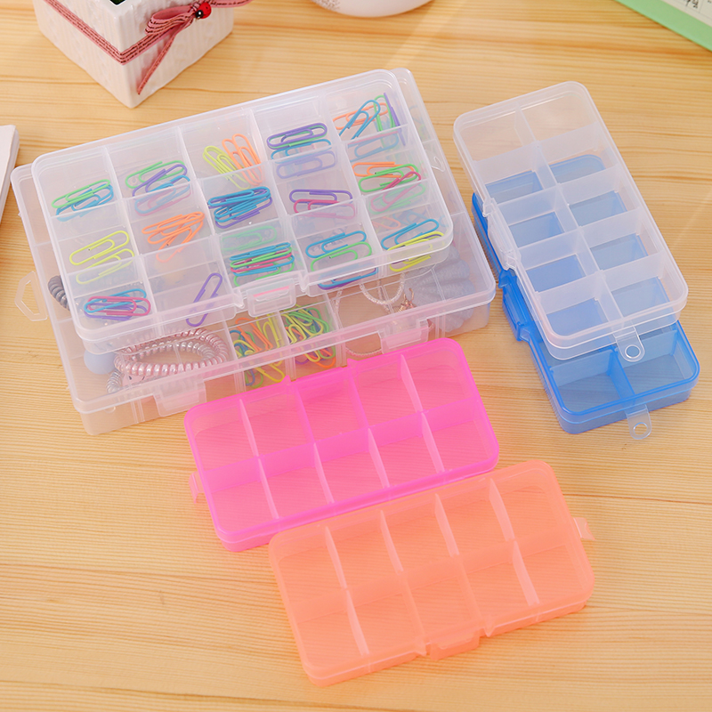 多格长方形小首饰盒可拆卸简约药盒塑料储物收纳整理盒耳钉饰品女