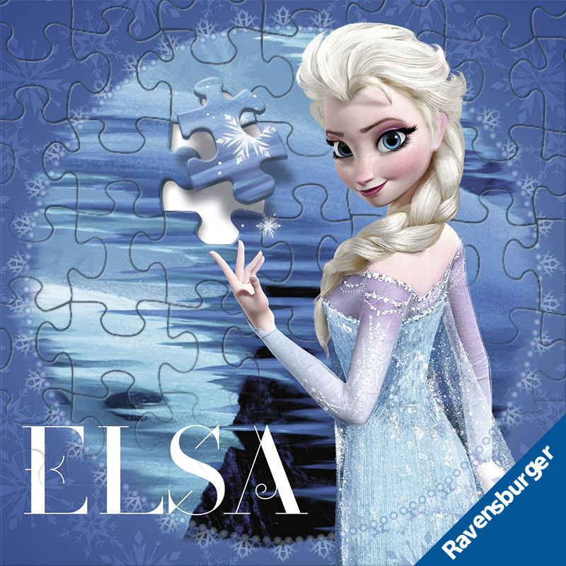 Ruisi ice and snow puzzle Princess Aisha block Puzzle Children Aisha toy set 4-year-old 6-year-old girl